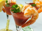 Shrimp Skewers with Bloody Mary Cocktail Sauce