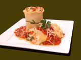 Roasted Garlic, Spinach and Portobello Lasagna Roll-ups
